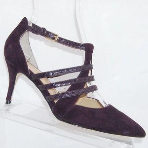 Ivanka Trump Tellus purple suede snake heels 5.5M